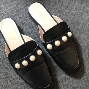 Catherine Malandrino Mule with pearl accent